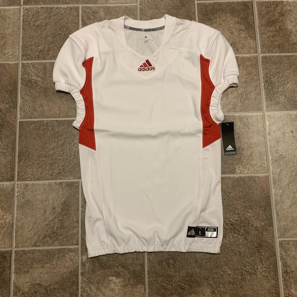 adidas Techfit Hyped Football Jersey Football Red